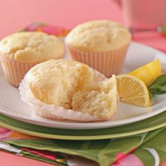 Lemon-Yogurt Tea Cakes Recipe from Taste of Home -- shared by Ruth Burrus of Zionsville, Indiana