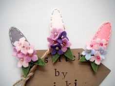 Felt hydrangea hairclip by MikiStitch by MikiStitch on Etsy, $5.00