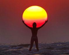 Playing with the sun by Malek Hammoud Tuwaijri