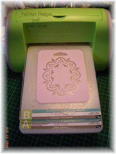 using plastic stencils in the cuttlebug - Card Making Machine