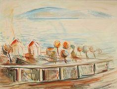Egry József Kilátás Fonyód felé című képe Modern, Painting, Art, Art Background, Trendy Tree, Painting Art, Kunst, Paintings, Performing Arts