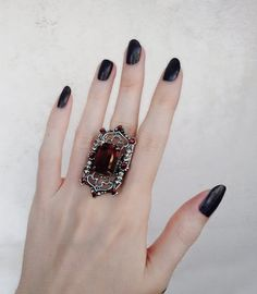 Victorian Vampire, Victorian Gothic, Prom Jewelry, Gothic Jewelry, Jewellery, Aesthetic Rings, Silver Filigree, Oxidized Silver, Gothic Nails
