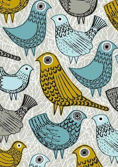 Pájaros brillantes láminas de edición limitada por EloiseRenouf