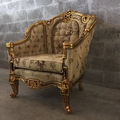 Antique French Louis XVI Chair Bergere by SittinPrettyByMyleen