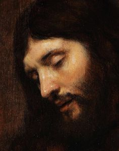 Head of Christ, Attributed to Rembrandt, 1655.
