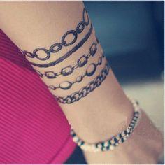 Nice idea for a real wrist tattoo