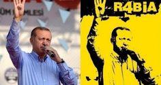 Erdogan 'launching' simbol 4 jari sebagai simbol untuk mengenang markas demonstran Pro Mursi di Rabi'ah yang telah dibumi hanguskan oleh junta militer. Secara sederhana simbol 4 jari untuk menunjuk icon Rabi'ah (dalam bahasa Arab, Rabi'ah/arba'ah = Empat). Rab'ah (angka 4) dijadikan sebagai Simbol Keteguhan dann Perlawanan untuk seluruh dunia yang mencintai kebebasan.
