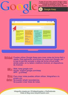 #Infografia #CommunityManager Google Keep. #TAVnews