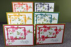 Assorted set of 6 Stampin' Up Handmade by CheleMarieCreations