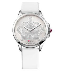 Charakteristické logo značky Juicy Couture - korunka. Vynikajúca cena a kvalita. http://www.1010.sk/p/hodinky-juicy-couture-jc1901095/