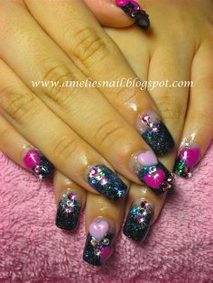 Glitter Acrylic Nails | Amelie's Nail Journey: Acrylic Extensions