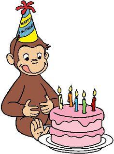 Curious George Curious George Party, Curious George Birthday, Boy Birthday Parties, Birthday Balloons, 2nd Birthday, Happy Birthday, Birthday Ideas, Birthday Cards, Curious George Coloring Pages
