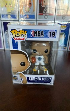 Stephen Curry White Jersey Golden State Warriors Funko POP in Funko pop protector. Still in perfect condition & will ship safely! Nba Live, White Jersey, Stephen Curry, Golden State Warriors, Bobble Head, Funko Pop, Statues, Snoopy, Ship