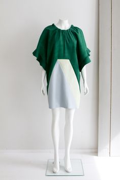 """Geometry"" Hanna Sarén AW13 / reindeer leather dress"