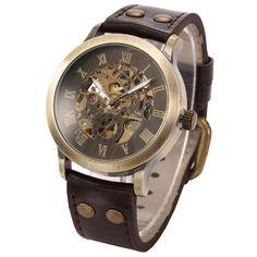 Sale Preis: Herrenuhr Automatik Uhr Skelettuhr Kunstleder Armbanduhr. Gutscheine & Coole Geschenke für Frauen, Männer und Freunde. Kaufen bei http://coolegeschenkideen.de/herrenuhr-automatik-uhr-skelettuhr-kunstleder-armbanduhr