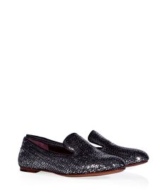 Marc by Marc Jacobs - Black Sequin Embellished  Loafers