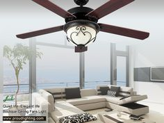 Proud Lighting Ceiling Fans Decorative Ceiling Fans, 52 Inch Ceiling Fan, Metal Canopy, Save Energy, Ceiling Lights, Lighting, Home Decor, Decoration Home, Room Decor