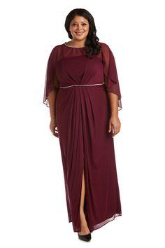 R&M Richards Long Formal Plus Size Dress 2461W   The Dress Outlet Maroon Dress, Navy Dress, Bride Groom Dress, Bride Dresses, Mother Of The Bride Plus Size, Richard Long, Fashion Mask, Pageant Dresses, Chiffon Dress