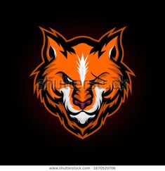Angry fox wild e sports mascot logo Prem. Angry Fox, Rooster Logo, Sacred Geometry Patterns, Eye Logo, Sports Team Logos, Fox Head, Fox Art, Geometric Background, Logo Design