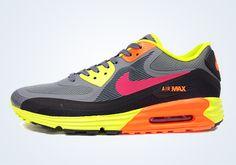 Nike Air Max Lunar90 WR - Grey - Volt - Orange - SneakerNews.com