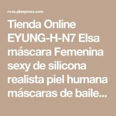 Tienda Online EYUNG-H-N7 Elsa máscara Femenina sexy de silicona realista piel humana máscaras de baile de Halloween masquerade cosplay travesti crossdresser | Aliexpress móvil