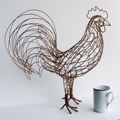 Rex the Rooster Wire Sculpture - right | Flickr - Photo Sharing!