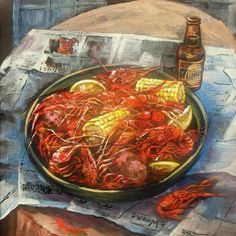 Crawfish Celebration Painting - Crawfish Celebration Fine Art Print - Dianne Parks