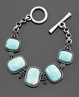 Lucky Brand Bracelet, Blue Stone - at Macy's for $35