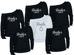 Hey, I found this really awesome Etsy listing at https://www.etsy.com/listing/217350466/12-personalized-bridesmaids-shirts-bride