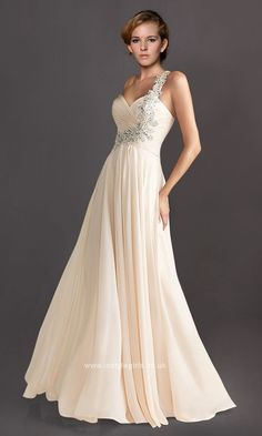 One Shoulder Beading Floor Length Sweetheart Elegant Prom Dress ISG0065