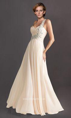 One Shoulder Beading Floor Length Sweetheart Elegant Prom Dress ISG0065