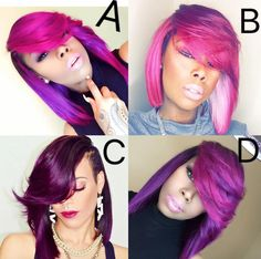 Shades of purple: Which is your fav? @thehairicon - https://community.blackhairinformation.com/hairstyle-gallery/weaves-extensions/shades-purple-fav-thehairicon/