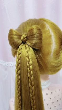 Easy Hairstyles For Long Hair, Braids For Long Hair, Headband Hairstyles, Up Hairstyles, Hairstyles With Fringe, Easy Toddler Hairstyles, Hairstyle Braid, Kawaii Hairstyles, Flower Girl Hairstyles