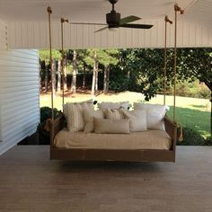 these totally awesome bed frames you can diy or buy old futon into porch swingbed see more ridgidbuilt mission hanging best daybed swing bed