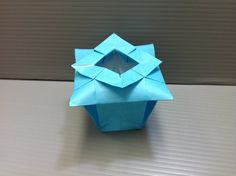 Daily Origami: 100 - Chinese Vase this is so cute to put  rings in