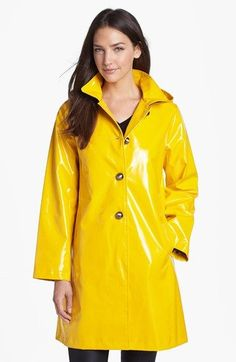 Free shipping and returns on JANE POST 'Princess' Rain Slicker with Detachable Hood at Nordstrom.com. A shiny slicker goes from play-day puddle jumping to making a splash on city streets in a longer cut detailed with domed metallic buttons. Sleeves can be rolled to expose a fun polka dot lining.