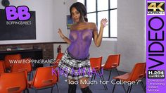 Free videos at BoppingBabes.com   Kiki Minaj - Too much For College