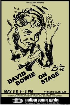 DAVID BOWIE 1978 Concert Poster New York City