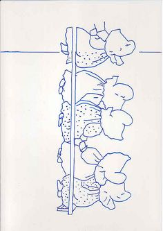Sunbonnet Babies - Ten of us all in a row - right half pattern Mais Hand Embroidery Patterns, Applique Patterns, Embroidery Applique, Cross Stitch Embroidery, Cross Stitch Patterns, Quilt Patterns, Embroidery Designs, Sunbonnet Sue, Doll Quilt