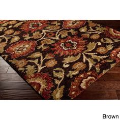 Haven Floral Shag Area Rug (5'3 x 7'3) (B