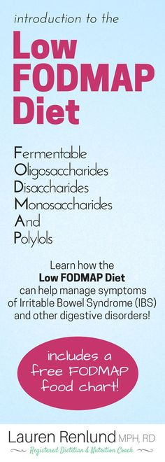 All of the info you need about the Low FODMAP Diet - written by a registered dietitian! This diet can help with digestive symptom management and certain digestive disorders (IBS IBD SIBO) Includes: What are FODMAPs? What is an elimination diet? What are the 3 stages of the low FODMAP diet? What foods are low and high FODMAP? Plus a free FODMAP food chart!