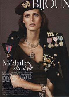 Vogue Paris August 2010 - The Vogue Paris August 2010 editorial has model Malgosia Bela all decked out in military ensembles. However, in true Vogue manner, the stylist for . Military Chic, Military Looks, Military Fashion, Military Inspired Fashion, Ootd Fashion, Fashion Beauty, Fashion Show, Fashion Design, Fashion Trends
