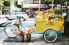 Flores sobre rodas