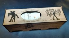 Laser engraved personalized wine box. by OzarkCustomEngravers