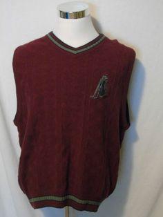 Cypress Links Men's L Sweater Vest Golf Bag Clubs #CypressLinks #Vest