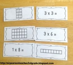 Using area models to help students learn their multiplication facts and a free Multiplication Arrays activity. Fun Math, Math Activities, Math Games, Teaching Multiplication, Multiplication Strategies, Math Fractions, Eureka Math, Math Groups, Math Intervention