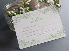 letterpress response card #program #letterpress #vintage #weddinginvitation #inspiration #weddingstyle #weddingday #design #lenahoschek #flower #roses #stationery