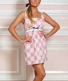 Pink & White Pretty in Plaid Chemise by Jessie Steele #zulilyfinds