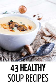 Healthy Meals For Kids 43 Healthy and Easy Soup Recipes Your Family will Love Healthy Eating For Kids, Healthy Foods To Eat, Healthy Snacks, Healthy Living, Family Meals, Kids Meals, Easy Meals, Family Recipes, Healthy Soup Recipes