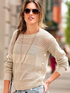 Open-stitch Sweater is on sale now for - 25 % !